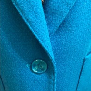 Nordstrom teal wool jacket w/single button close